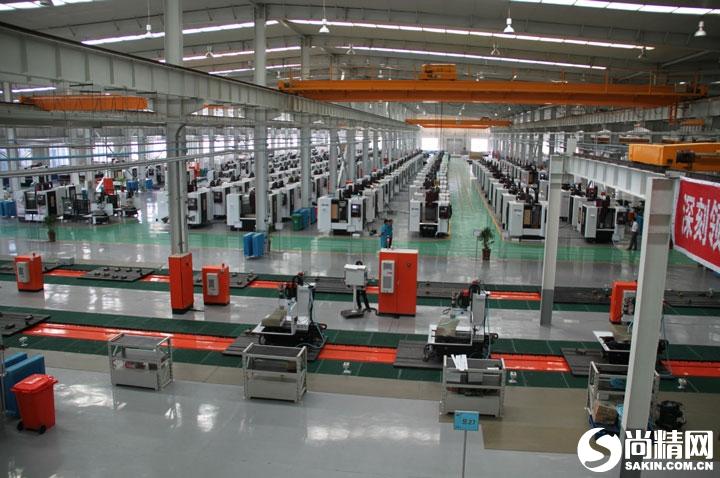 立式加工中心装配生产线